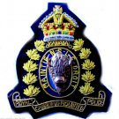 ROYAL CANADIAN MOUNTED POLICE KING CROWN BADGE NEW HAND EMBROIDERED CP MADE