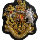 UK COAT OF ARM BADGES NEW HAND EMBROIDERED CP MADE - EXCELLENT QUALITY