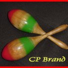 NEW WOODEN MARACAS PAIR LARGE SIZE CP BRAND Excellent Sound & Quality