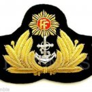 IRISH NAVY OFFICER HAT CAP BADGE NEW - FREE SHIP IN US - CP Hand Made Hi Quality