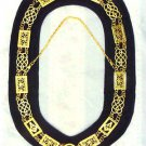 REGALIA MASONIC GRAND LODGE METAL CHAIN COLLAR BLACK VELVET HI QUALITY- CP MADE