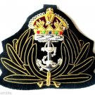 NEW UK ROYAL NAVY CHAPLAIN HAT CAP HAND EMBROIDERED KING CROWN BADGE CP MADE