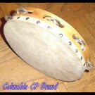 NEW Church TAMBOURINES Set Of 2 CP BRAND Single Row Jingles Goat Skin Heads