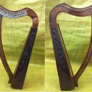 CP BRAND NEW 19 STRINGS HARP WITH LEVERS ROSEWOOD HAND CARVED FREE SHIP USA