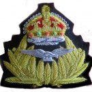 NEW ROYAL NAVY AIR SERVICE R.N.A.S. OFFICER Bullion Badge KING CROWN CP MADE