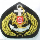 SINGAPORE NAVY OFFICER HAT CAP BADGE NEW HAND EMBROIDERED USA FREE SHIP CP MADE