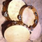 "SIX Church TAMBOURINES Size 8"" CP Brand New Single Row Jingles FREE SHIP IN USA"