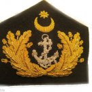 TURKEY NAVY OFFICER HAT CAP BADGE NEW HAND EMBROIDERED CP MADE FREE SHIP IN USA