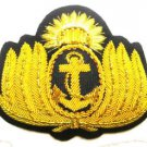 ARGENTINA NAVY OFFICER HAT CAP BADGE NEW HAND EMBROIDERED CP MADE FREE SHIP USA