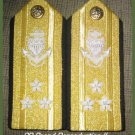 NEW US COAST GUARD Shoulder Boards VICE ADMIRAL 3 Stars Pair Hi Quality CP MADE