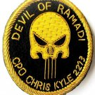 CHRIS KYLE - US NAVY SEAL HAT CAP BADGE GOLD NEW HAND EMBROIDERED CP MADE