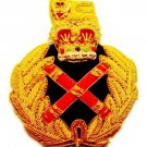 ROYAL ARMY GENERAL CAP HAT Bullion Badge QUEEN CROWN FREE SHIP IN USA CP MADE