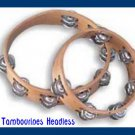 CP TAMBOURINES New  Set Of Two (2) HEADLESS 1st Quality Sound - CP Made
