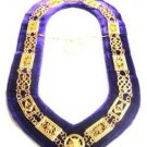 REGALIA MASONIC GRAND LODGE METAL COLLAR DARK PURPLE VELVET HI QUALITY CP MADE