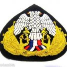 YUGOSLAVIA NAVY OFFICER HAT CAP BADGE NEW HAND EMBROIDERED CP MADE FREE SHIP USA