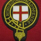 """BADGE HONI SOIT QUI MEL Y PENSE NEW HAND EMBROIDERED 10"""" x 8"""" SIZE CP MADE"""