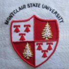 MONTCLAIR STATE UNIVERSITY COLLEGE POCKET BADGE. CP COLUMBIA HAND EMBROIDERED