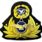 GREEK AIR FORCE OFFICE CAP HAT BADGE NEW  HAND EMBROIDERED USA FREE SHIP CP MADE