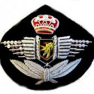 BELGIUM AIR FORCE PILOT HAT CAP BADGE NEW HAND EMBROIDERED USA FREE SHIP CP MADE