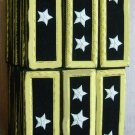 NEW US ARMY GENERAL STRAPS SHOULDER BOARDS EPAULETTE - GOLD BULLION WIRE CP MADE