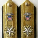 NEW US NAVY SIX STARS ADMIRAL RANK CP MADE HI QUALITY SHOULDER BOARDS COLLECTORS