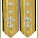 NEW US NAVY REAR ADMIRAL 2 STARS HARD SHOULDER BOARDS AUTHENTIC QUALITY CP MADE