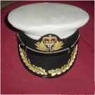ROYAL UK NAVY OFFICERS NEW HAT CAP CAPTAIN RANK WHITE ALL 57 TO 62 SIZES CP MADE
