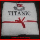 NEW TITANIC FIRST CLASS PASSENGER COURTESY BATH TOWEL EXCELLENT SOUVENIR CP MADE