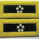 US GENERAL OF ARMY 5 STARS GOLD BULLION SHOULDER BOARDS STRAP NEW CP MADE