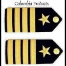 US NAVY NEW CAPTAIN RANK HARD SHOULDER BOARDS AUTHENTIC HI QUALITY PAIR CP MADE