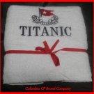 NEW TITANIC FIRST CLASS PASSENGER COURTESY HAND TOWEL EXCELLENT SOUVENIR CP MADE