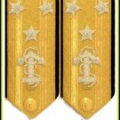 NEW US NAVY VICE ADMIRAL 3 STAR HARD SHOULDER BOARDS AUTHENTIC QUALITY CP MADE