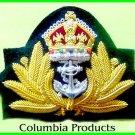 NEW UK ROYAL NAVY OFFICER HAT CAP CAPT ADMIRAL Bullion Badge KING CROWN CP MADE