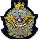 BRUNEI ROYAL AIR FORCE HAT CAP COMMODORE Bullion Badge - FREE SHIP IN USA