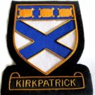 KIRKPATRICK SCOTTISH CLAN BADGE NEW HAND EMBROIDERED CP MADE FREE USA SHIP