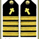 NEW US NAVY CAPTAIN CHRISTIAN CHAPLAIN RANK HARD SHOULDER BOARDS HI CP QUALITY