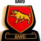BAIRD SCOTTISH CLAN BADGE NEW HAND EMBROIDERED CP MADE, HI QUALITY FREE USA SHIP