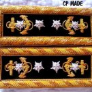 NEW US ADMIRAL OF NAVY RANK SHOULDER BOARDS EPAULETTES PAIR CP MADE HIGH QUALITY