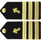 NEW US NAVY COMMANDER CHRISTIAN CHAPLAIN RANK HARD SHOULDER BOARDS CP QUALITY