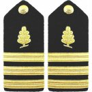 NEW US NAVY COMMANDER MEDICAL SERVICES HARD SHOULDER BOARDS AUTHENTIC CP MADE