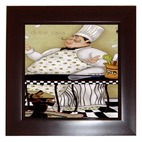 Juggling Chef Framed Tile