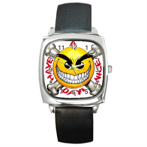 Have a Nice Day Square Metal Watch