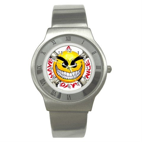 Have a Nice Day Stainless Steel Watch