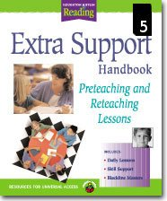 Houghton Mifflin Reading Extra Support  Handbook for Preteaching and Reteaching Lessons Grade 5