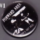 Forward Area - 'Punk's Not Red' pin