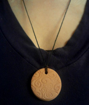 Terracotta Pendants for Essential Oils- Victorian Style