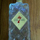Seagram's 7 Crown Diamond Cut Bottle Decanter Vintage