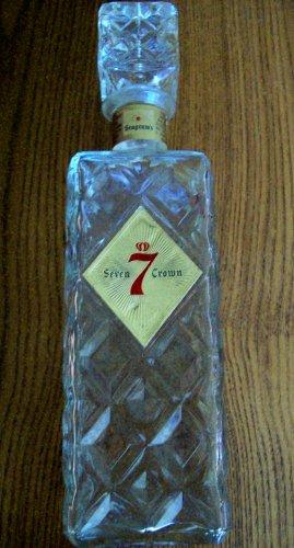 Seagram's 7 Crown Diamond Cut Bottle Decanter Vintage