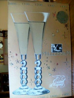 Champagne Flutes Millenium