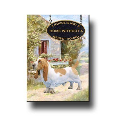 BASSET HOUND House Is Not A Home FRIDGE MAGNET No 1